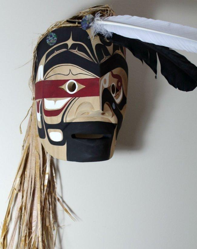 West Coast Native Makah Warrior Mask - 4