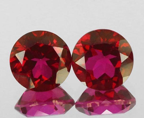 Natural Red Topaz Pair 4.60 Carats - VVS