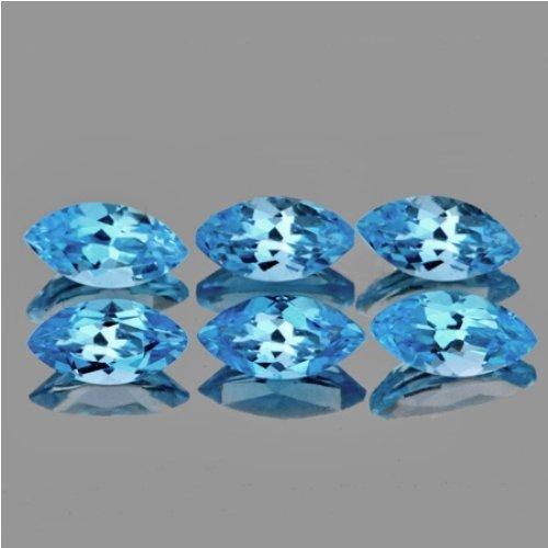 Natural Sky Blue Aquamarine 6 x 3 - Flawless