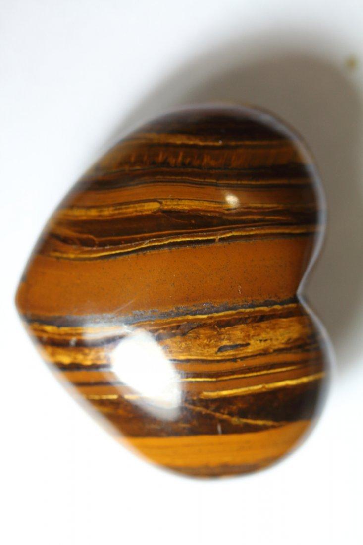 Natural Tiger s Eye Heart 252 Carats