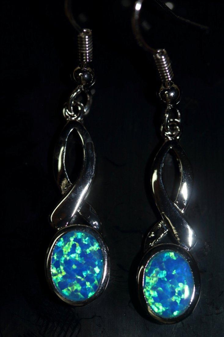 Stunning Fire Natural Opal Earrings