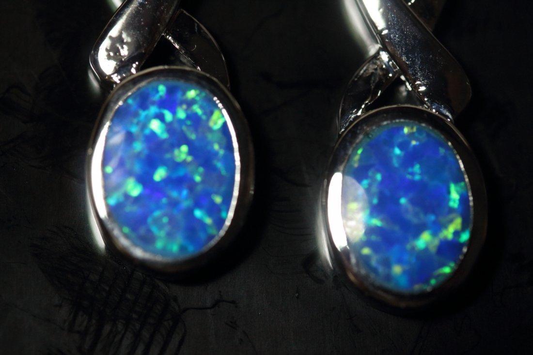 Stunning Fire Natural Opal Earrings - 2