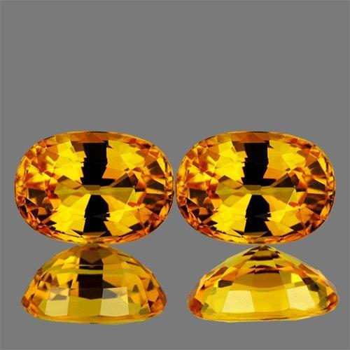Natural Yellow Sapphire Pair 2.00 cts - VVS1