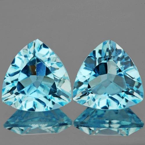 Natural Swiss Blue Topaz Pair 7.93 carats - Flawless