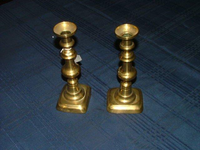 505: Pr. Brass Candlesticks Start Bid €10
