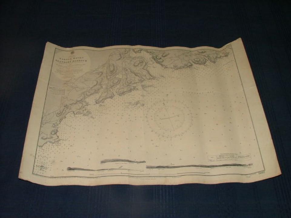 Admiralty sea chart, Castlehaven-Glandore 1957.