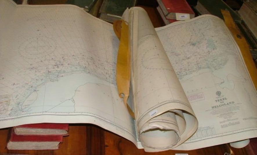 Assorted admiralty sea charts, Bahama Islands, UK etc.