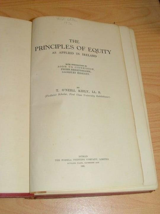 """Book : Hard cover """" The principles of equity as applied"""