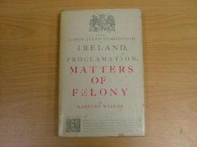 Book, hardcover 'Matters of Felony' by Margery Weiner F