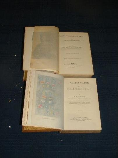Leather bound volume on Horatio Nelson and 41 years in