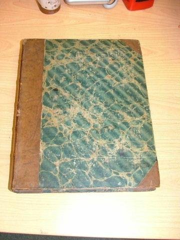 Book, hardcover, partial leather and marbled boards, Th