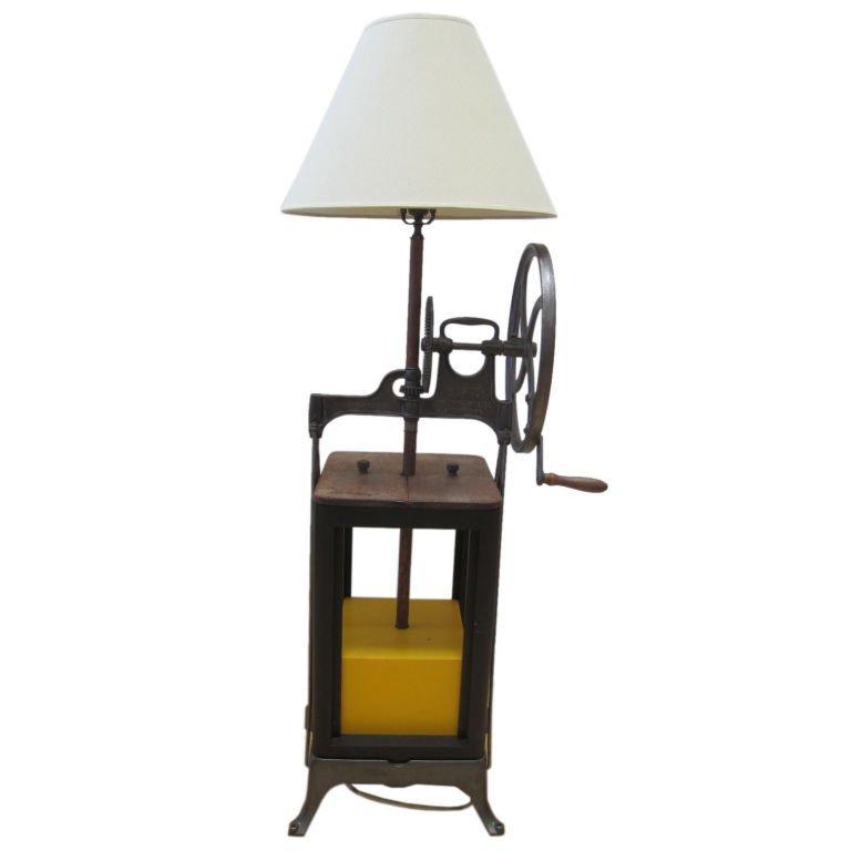 17: Butter Churn Floor Lamp