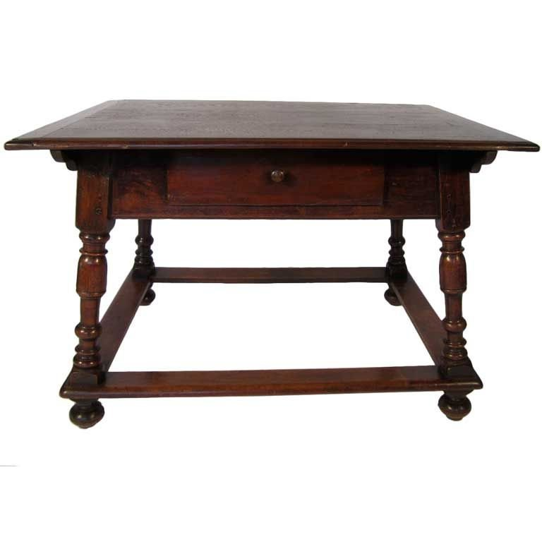 19: Continental Desk with Drawer late 19th c.