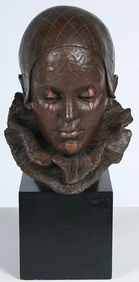 "20: Classic ""Pierrot"" Bronzed Bust"