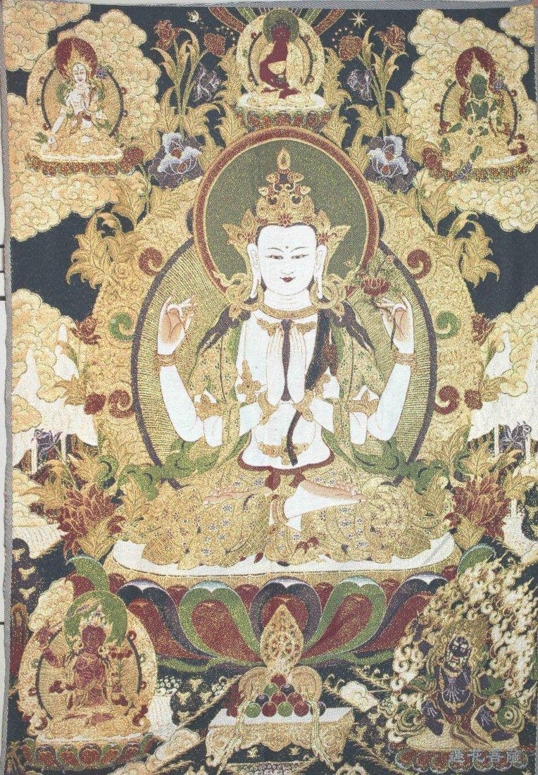 Sino-Tibetan Silk Thanka