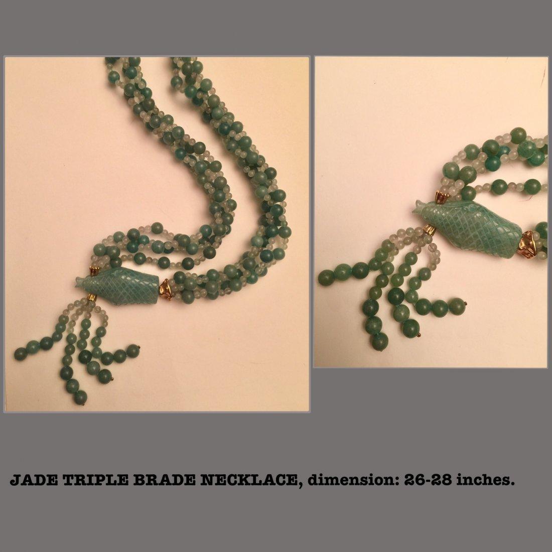Gem Stone Necklace, Estate Jewelry