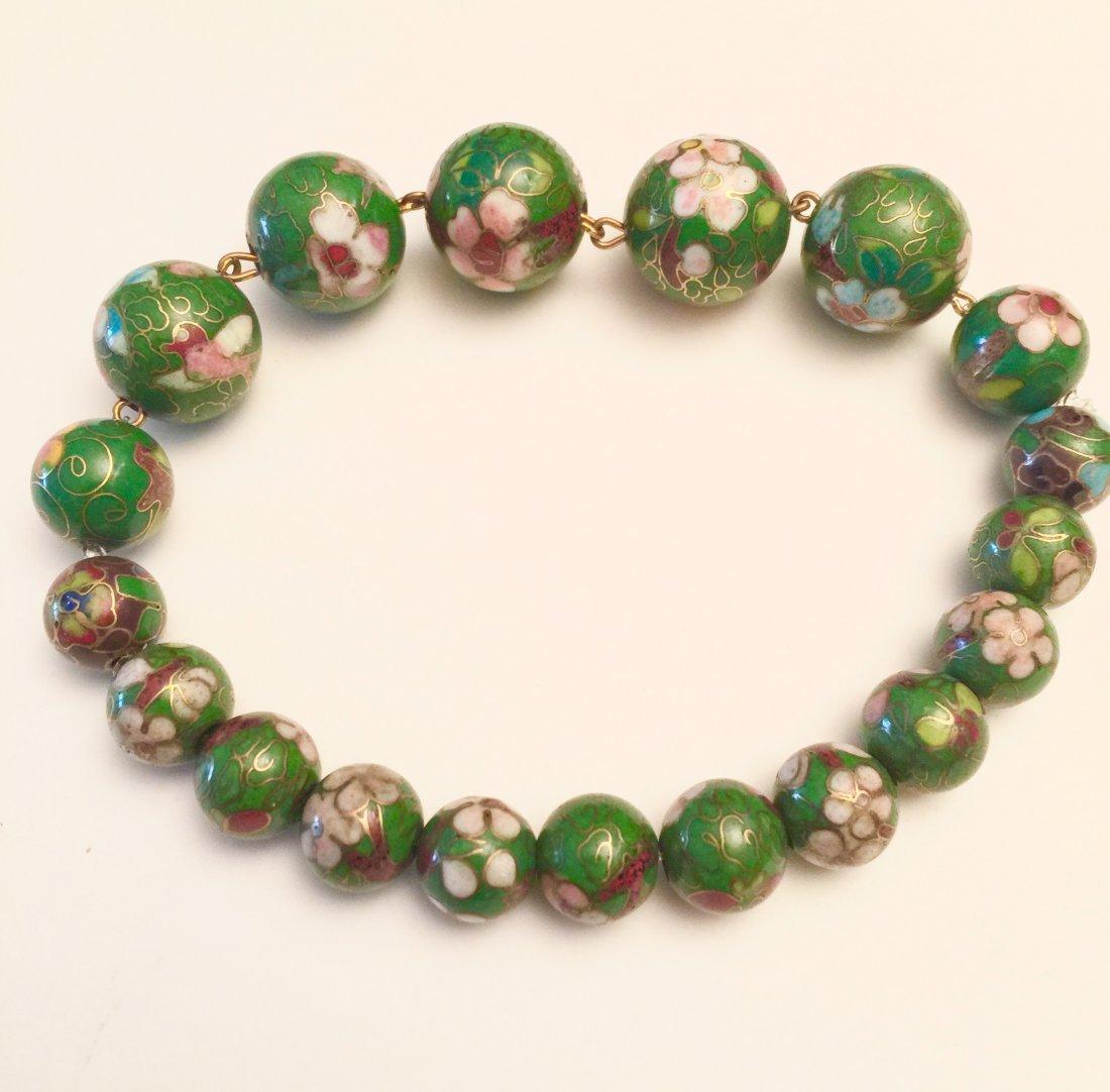 Cloisonné Bracelet, Estate Jewelry - 2