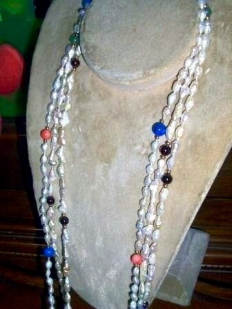 FWP Rainbow Necklace, 3 pieces Estate Jewelry