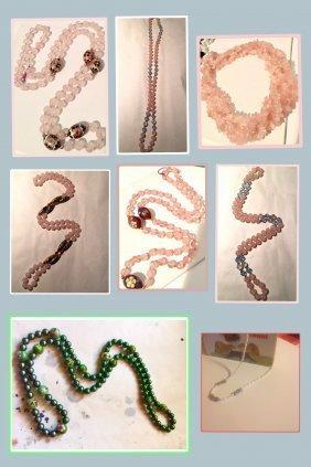 Seven Strands Assorted Necklace, Estate Jewellery