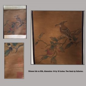 Chinese Ink on Silk Painting