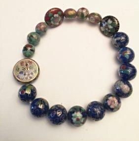 Cloisonne Bracelet, Estate Jewelry,