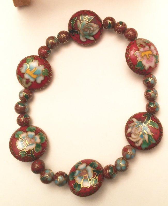 Cloisonne Bracelet, Estate Jewelry