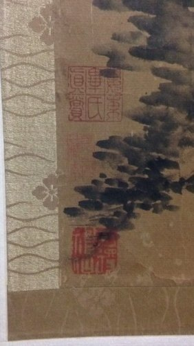 Chinese Paper Scrolled Painting - 5