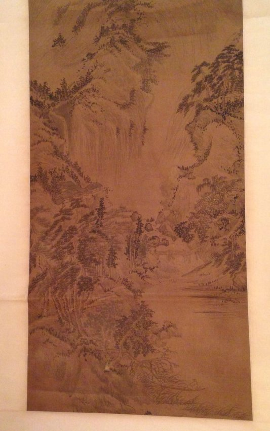 Chinese Silk Scrolled Painting