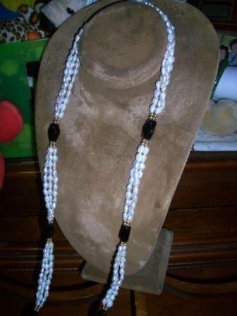 Triple Strands a Necklace, Estate Jewelry