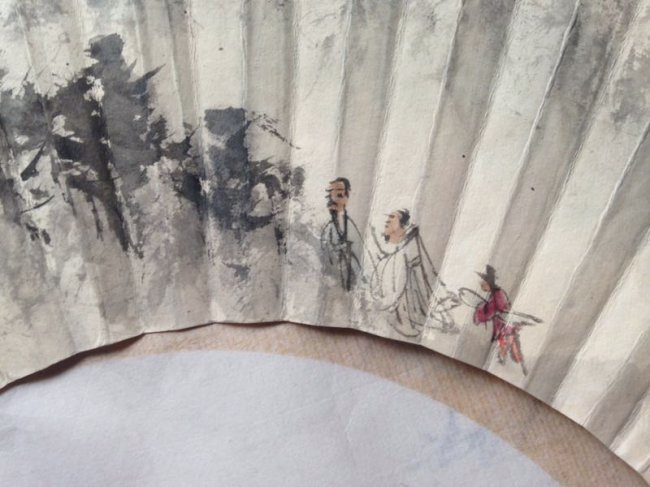 Chinese Paper Scrolled Fan Painting - 4