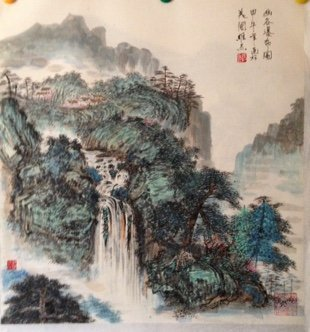 Chinese Paper Ink Wash Scroll Painting