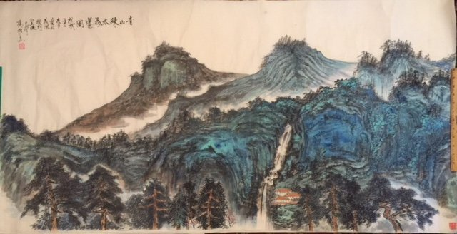 Chinese Paper Scroll Painting