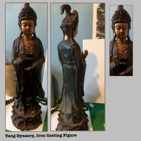 Tang Dynasty (618-907), Cast Iron Lady Statue