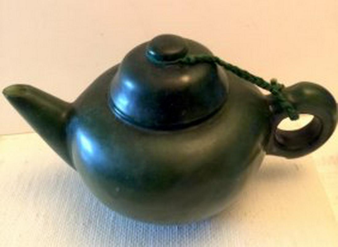 Spinach Jade Teapot, ESTATE DECOR
