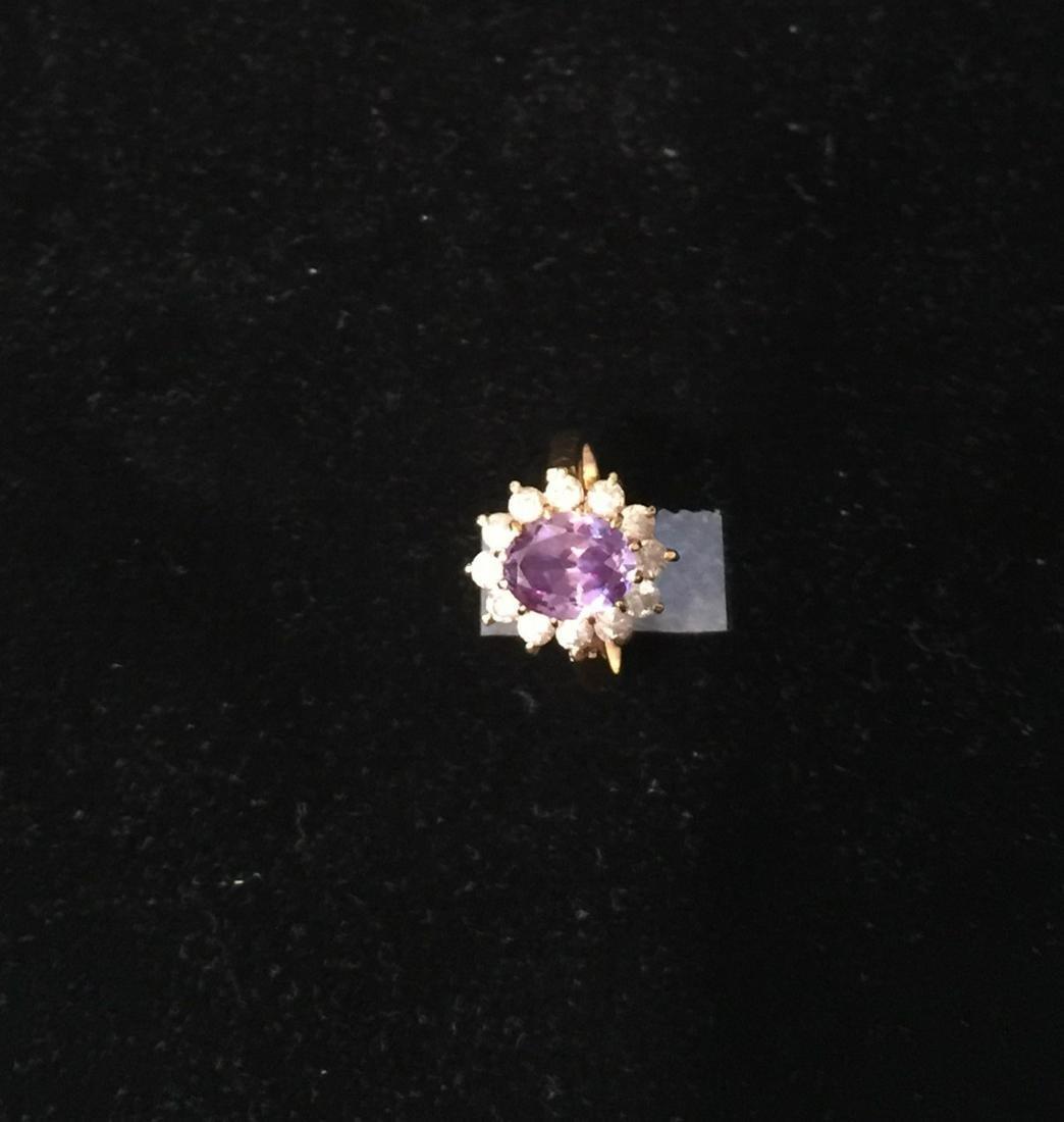 Amethyst Ring, Size:5-6