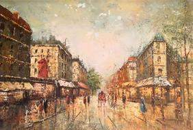 Oil on canvas, original signed