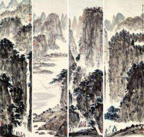 Four Chinese Scrolled Painting