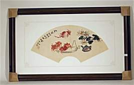 Ancient Chinese Fan Style Arts/ Framed Wall Decor