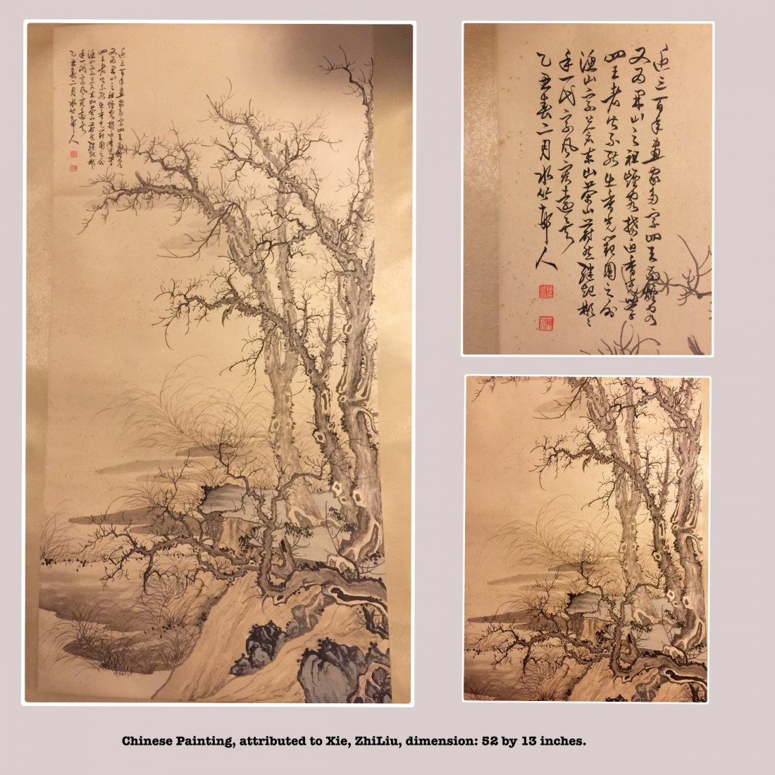 Chinese Ink on Paper Painting, attributed toXu, ShiChan
