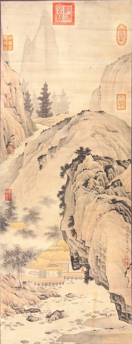 Chinese ink on Paper Scroll Painting, Ming dynasty