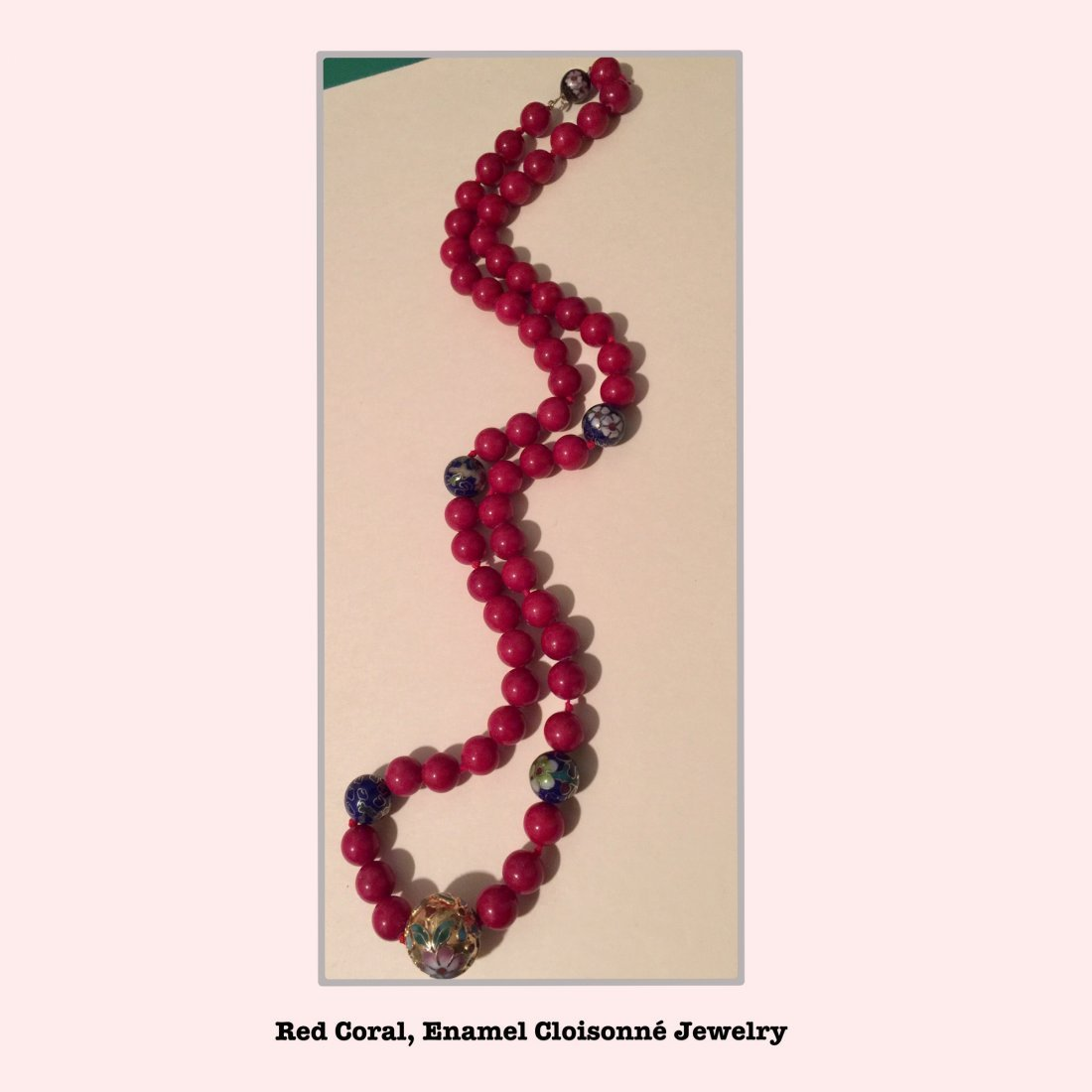 Red Coral Necklace Estate Jewelry