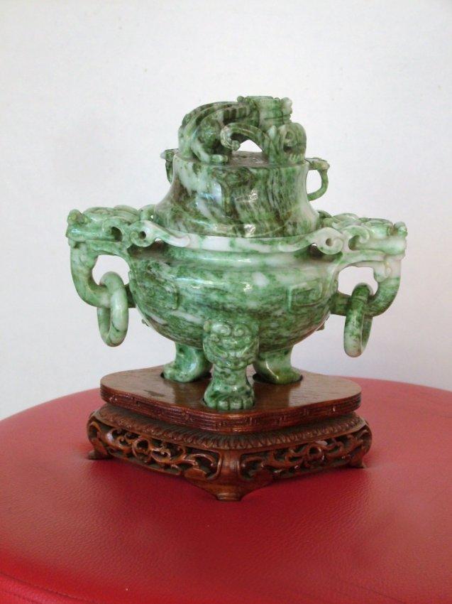 Incense Green Nephrite Burner