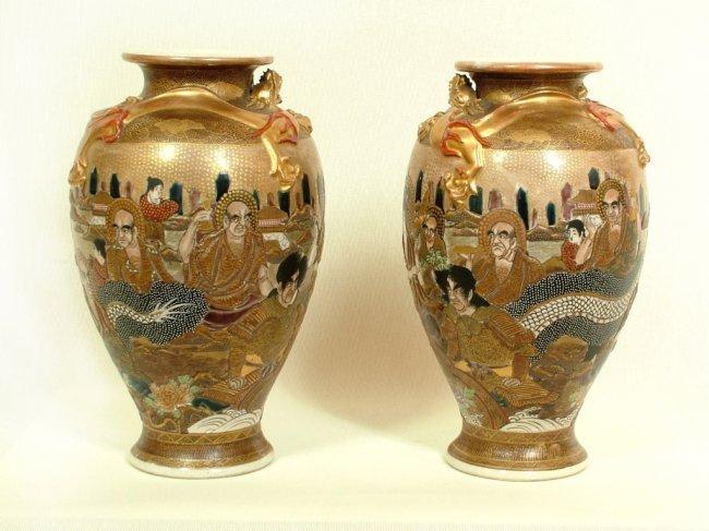 Satsuma Pair Vases