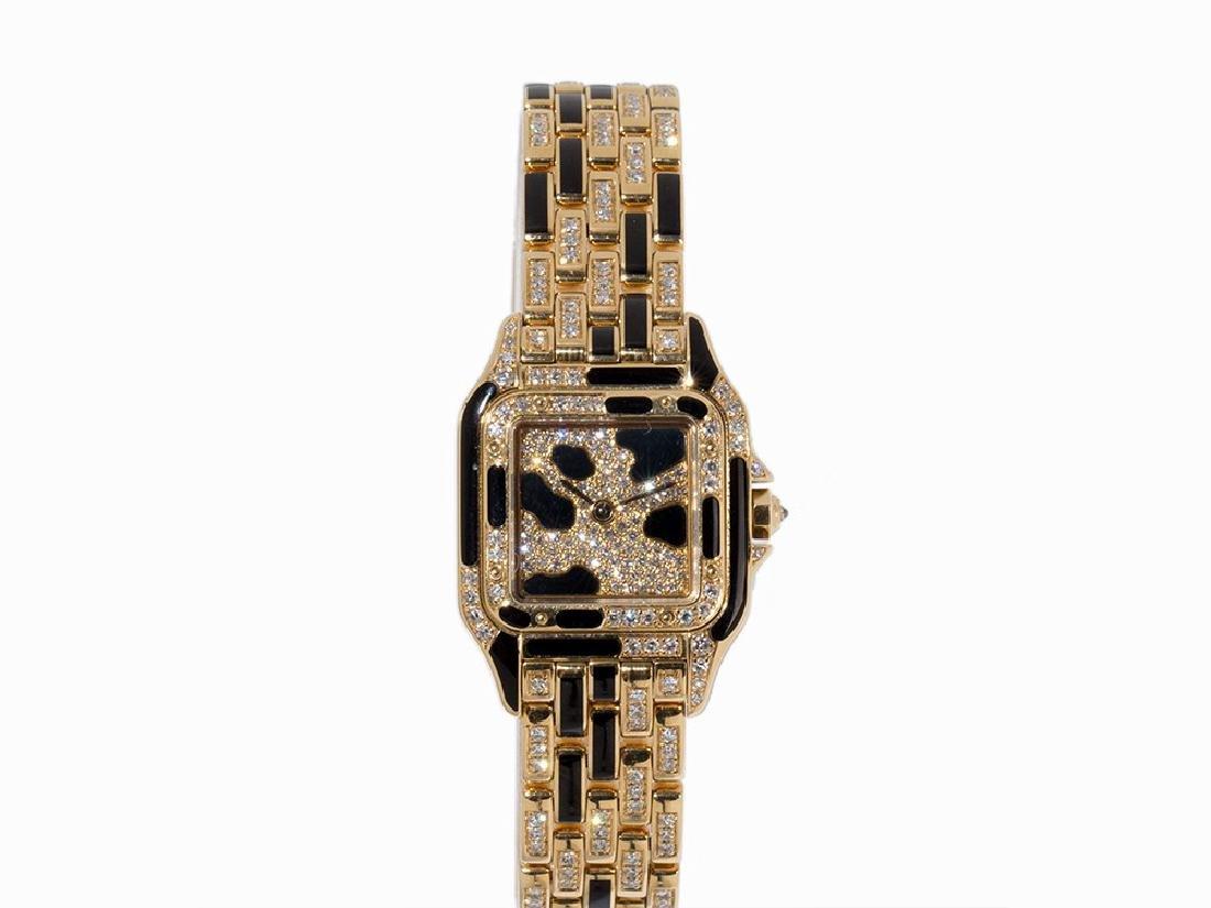 Cartier Panthere Diamond Onyx Case, 18K Gold,