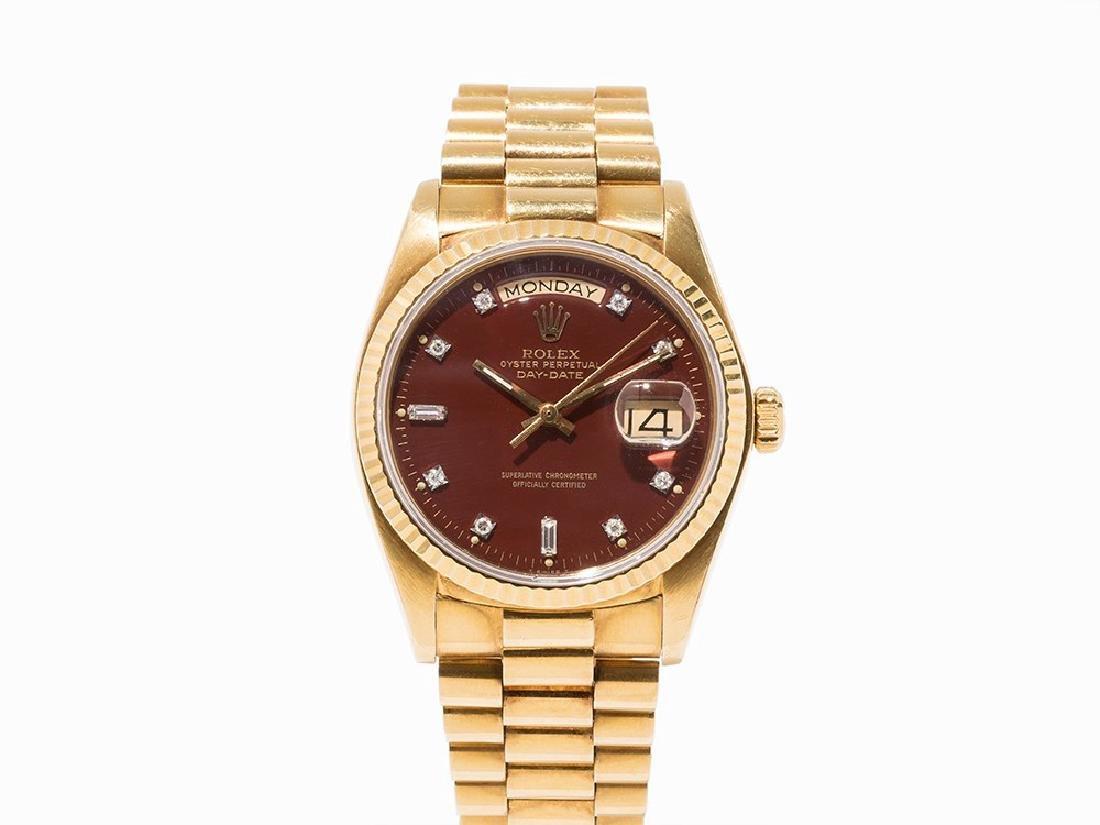 Rolex Day-Date Oxblood, 18K Gold, Switzerland, 1978