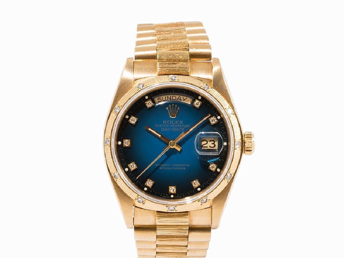 Rolex Day-Date Degradeé Dial, 18K Gold, Switzerland,