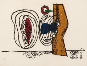 Le Corbusier, Les Huits, Lithograph in Colors, 1963