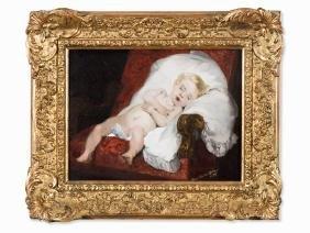Pierre Carrier-Belleuse (1851-1932), Sweet Dreams, Oil,