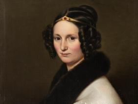 Johann C. Dorner, Biedermeier Female Portait, 1838