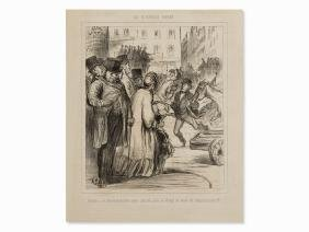 Honoré Daumier, Le Nouveau Paris, Lithograph, 1862